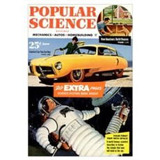 Popular Science Cover, June 1953 Framed Print