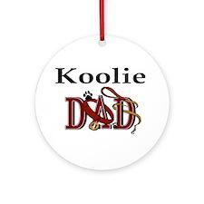 Koolie Dad Ornament (Round)