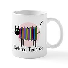 Retired Teacher Book Cat.PNG Mug