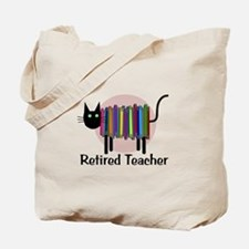 Retired Teacher Book Cat.PNG Tote Bag