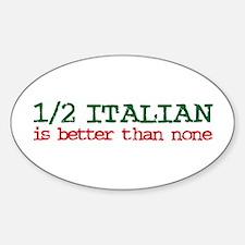 1/2 Italian Oval Decal