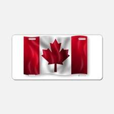 Canada Flag Aluminum License Plate