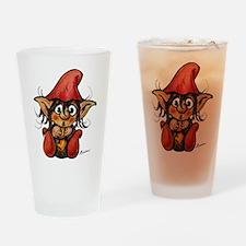 Cute Winter Trollelf Drinking Glass