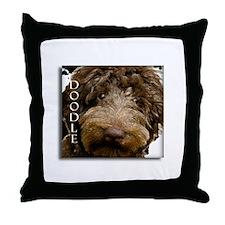 Chocolate Doodle Throw Pillow