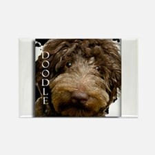 Chocolate Doodle Rectangle Magnet