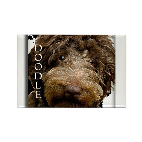 Chocolate Doodle Rectangle Magnet (100 pack)