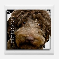 Chocolate Doodle Tile Coaster