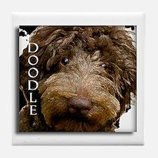 Chocolate Doodle Tile Coaster