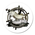 Fishing legend Round Car Magnet