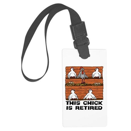 Retired Chick Large Luggage Tag
