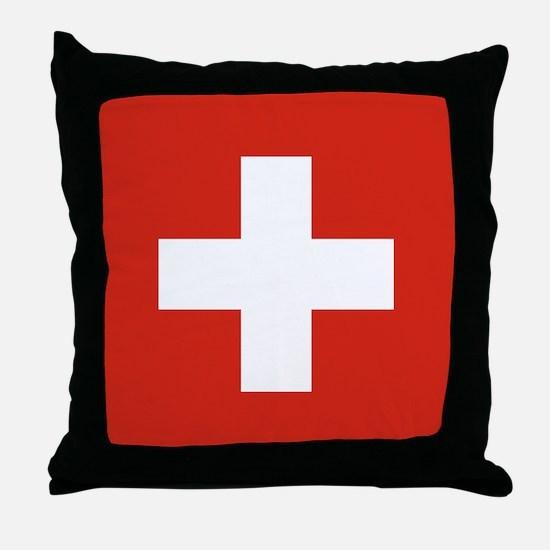 Flag of Switzerland Throw Pillow
