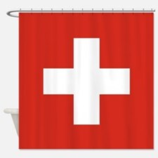 Flag of Switzerland Shower Curtain