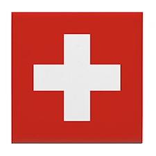 Flag of Switzerland Tile Coaster