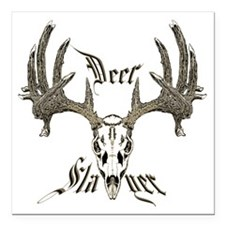 "Deer slayer 1 Square Car Magnet 3"" x 3"""