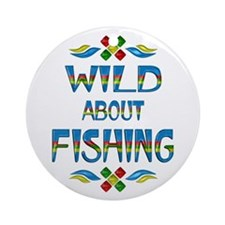 Wild About Fishing Ornament (Round)