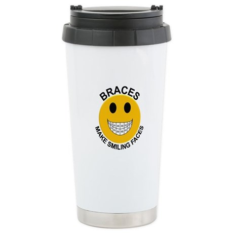 Braces Make Smiling Faces Stainless Steel Travel M