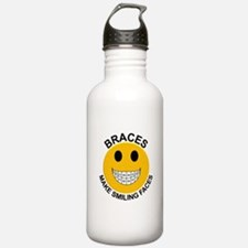 Braces Make Smiling Faces Water Bottle