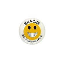 Braces Make Smiling Faces Mini Button
