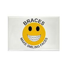Braces Make Smiling Faces Rectangle Magnet (10 pac