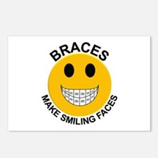 Braces Make Smiling Faces Postcards (Package of 8)