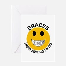 Braces Make Smiling Faces Greeting Card