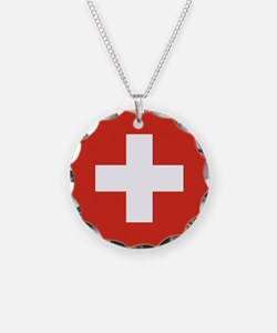 Flag of Switzerland Necklace