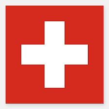 """Flag of Switzerland Square Car Magnet 3"""" x 3"""""""