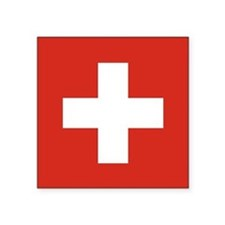 "Flag of Switzerland Square Sticker 3"" x 3&quo"