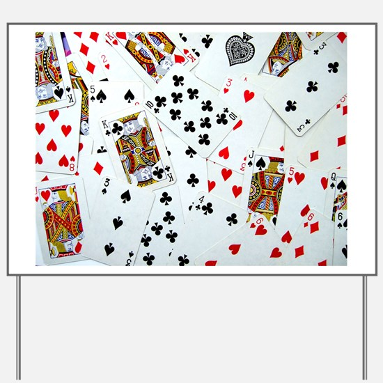 Playing Cards Yard Sign