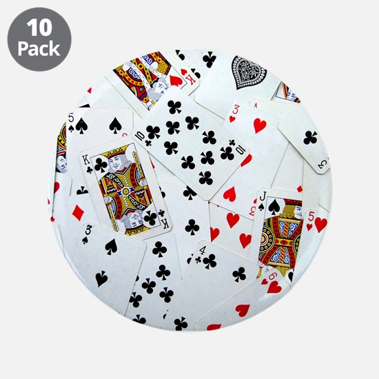"""Playing Cards 3.5"""" Button (10 pack)"""