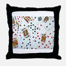 Playing Cards Throw Pillow