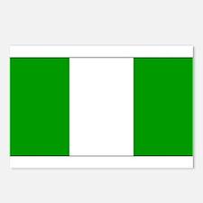 Nigeria Nigerian Blank Flag Postcards (Package of