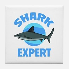 Shark Expert Tile Coaster