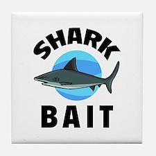 Shark Bait Tile Coaster