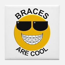 Braces Are Cool / Sunglasses Tile Coaster