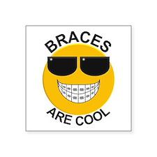 """Braces Are Cool / Sunglasses Square Sticker 3"""" x 3"""