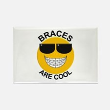 Braces Are Cool / Sunglasses Rectangle Magnet