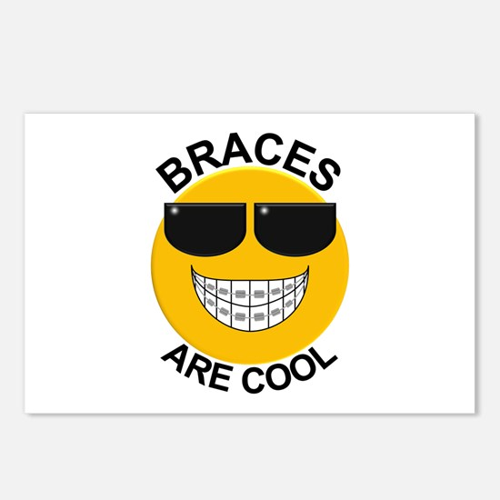 Braces Are Cool / Sunglasses Postcards (Package of