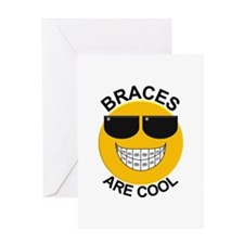 Braces Are Cool / Sunglasses Greeting Card