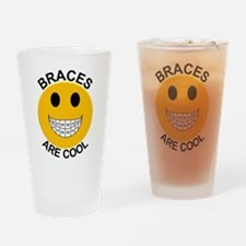 Braces Are Cool Drinking Glass