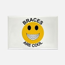 Braces Are Cool Rectangle Magnet