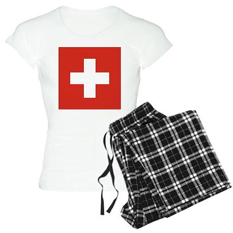 Flag of Switzerland Women's Light Pajamas