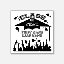 "Graduation Square Sticker 3"" x 3"""