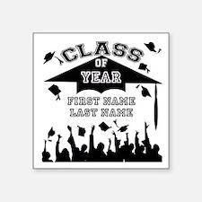 "Graduation Square Sticker 3"" x 3"""