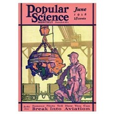 Popular Science Cover, June 1928 Poster