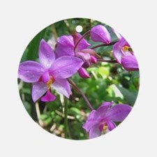 Purple Orchid Ornament (Round)