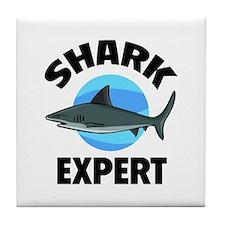 Shark Expert Tile Coaster