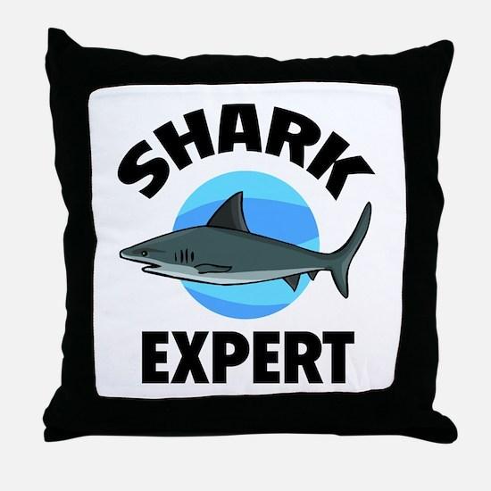 Shark Expert Throw Pillow