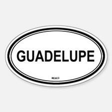 Guadelupe, Mexico euro Oval Decal