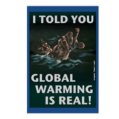 Global Warming is Real Postcards